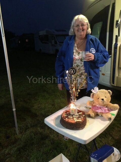 Adrienne's birthday celebrations.
